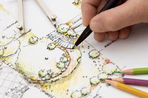 Usługi ogrodnicze projektowania ogrodów we Wrocławiu: architekt krajobrazu tworzy projekt ogrodu przydomowego
