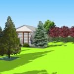 wizualizacja_ogrod_geometryczny_budynek_gospodarczy