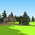 wizualizacja_ogrod_geometryczny_opaski_z_kostki_betonowej